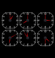 clock face set of time indication vector image