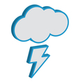 Cloud with lightning weather forecast icon EPS10 vector image