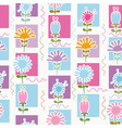 Retro Flowers Seamless Pattern vector image