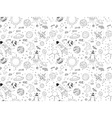 Seamless pattern Cosmic objects set Hand drawn vector image