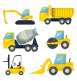 Set of operating machinery vector image