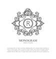 Simple and elegant monogram design for logo vector image