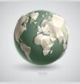 triangular world vector image