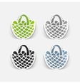realistic design element easter basket vector image