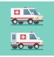 transport ambulance car icon vector image