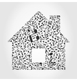 Music the house vector image vector image