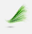 Green wave element for design vector image