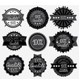 Set of 9 dark labels vector image