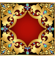 background with red gems vector image vector image