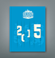 Cover Annual Report numbers 2015 vector image vector image