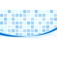 background - blue tiles vector image