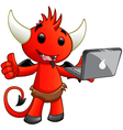 Devil Character Laptop vector image