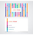 bright business card with a striped seamless vector image