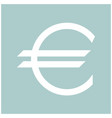 euro symbol the white color icon vector image