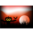 Halloween scarecrow background vector image