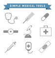 simple outline medical tools package vector image