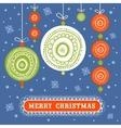 Stylish Christmas card vector image