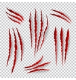 Realistic claw scratches set on plaid vector image