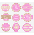 set of 9 labels vector image vector image