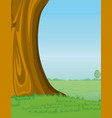 tree and pasture background vector image vector image