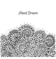 Floral hand drawn doodle vector image