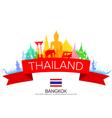 Bangkok Thailand Travel vector image