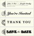Wedding banners vector image