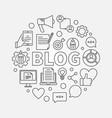 blogging round vector image