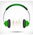 Green headphones vector image