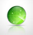 green radar vector image