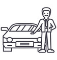 man with new carauto dealershipbuying a vehicle vector image