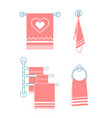 set icons towel rack vector image