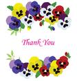 vintage floral thank vector image