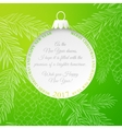 The Christmas ball vector image vector image