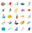 theater icons set isometric style vector image vector image