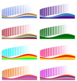 Set of 8 abstract backgrounds vector image