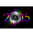 Party - 2015 New Year background vector image vector image
