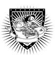 skater shield vector image