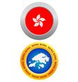 button as a symbol HONG KONG vector image vector image