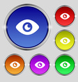 Eye Publish content icon sign Round symbol on vector image