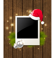 Photo fir branch and Santas hat vector image vector image
