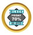 70 Black Friday sale icon vector image