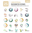 Abstract business icons vector image