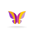 Butterfly colorful logo vector image