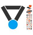 champion award icon with love bonus vector image