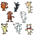dogs cartoon vector image