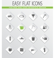 Gardening tools collection icons set vector image