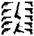 guns set vector image
