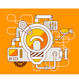 industrial of the mechanism of light bulb vector image