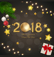 merry christmas and 2018 happy new year background vector image